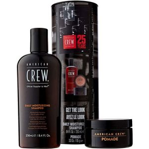 A. CREW KIT GET THE LOOK DAILY SH. + POMADE