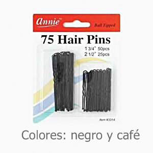 HORQUILLA 75 PCS HAIR PINS 2T. U4565P-75