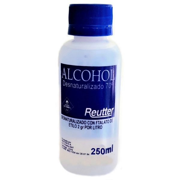 REUTTER ALCOHOL 250ML 70/100 - DESNAT.