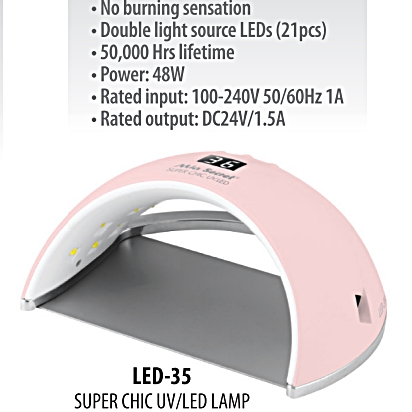 LED-35 M.S. LAMPARA UV / LED 48W. - SUPERCHIC