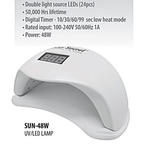 SUN-48W M.S. LAMPARA UV / LED 48W. - 36 LEDS